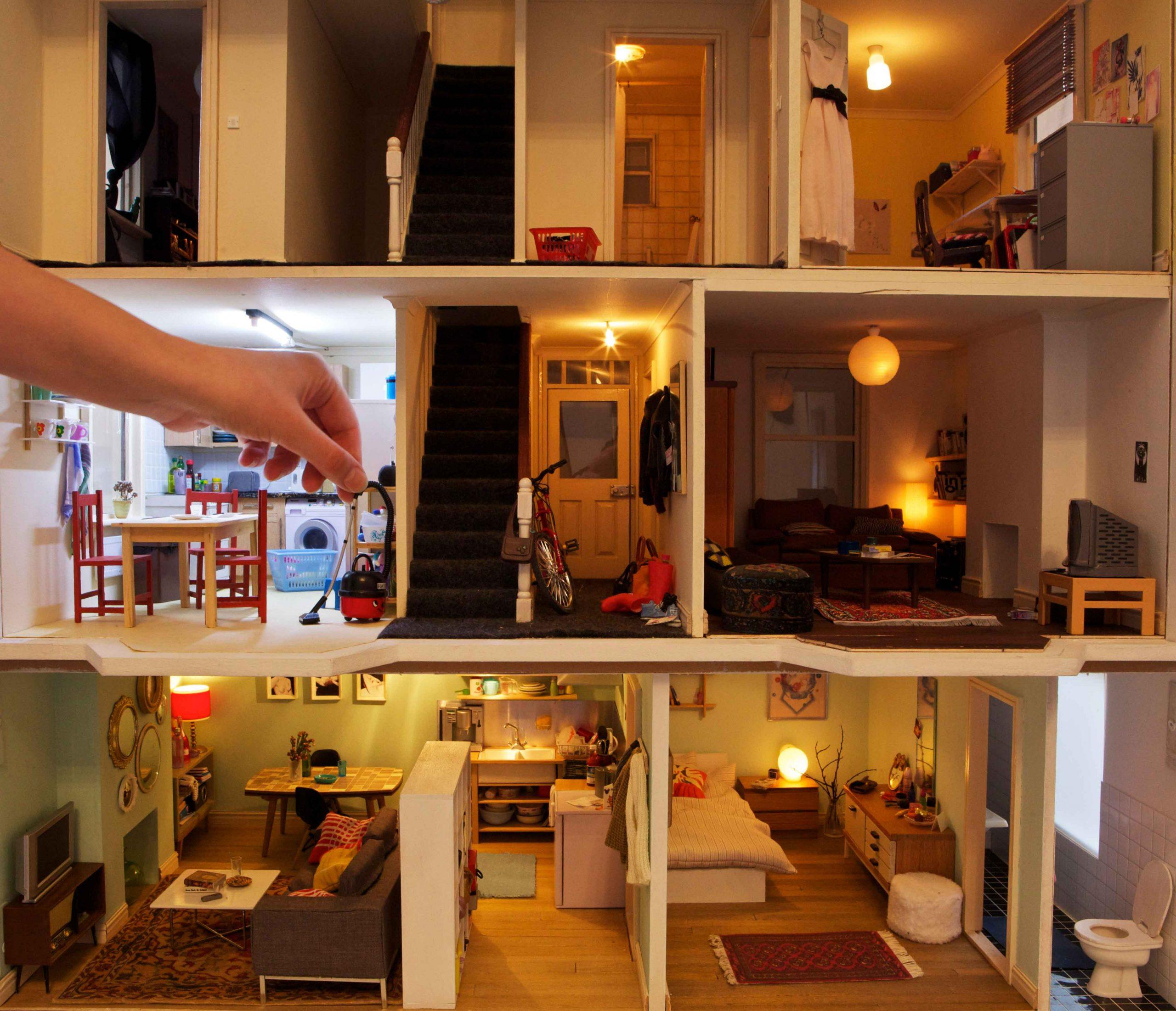 Miniature Brighton Student Dolls House by Annina Diston