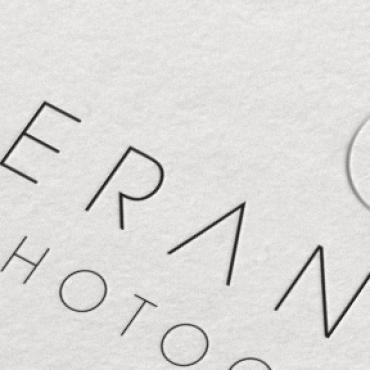 Kieran Paul Photography Logo Branding Business Card Closeup