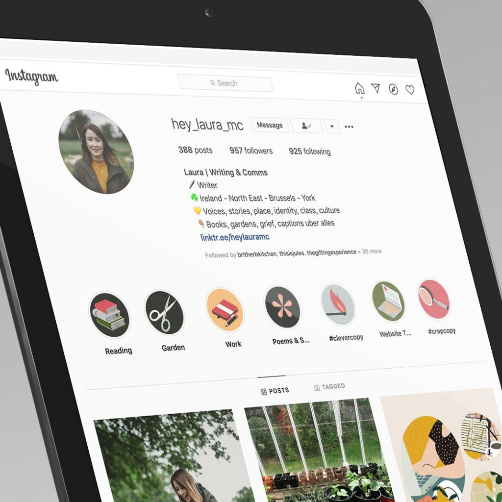 Laura McDonagh Branding Instagram Icons