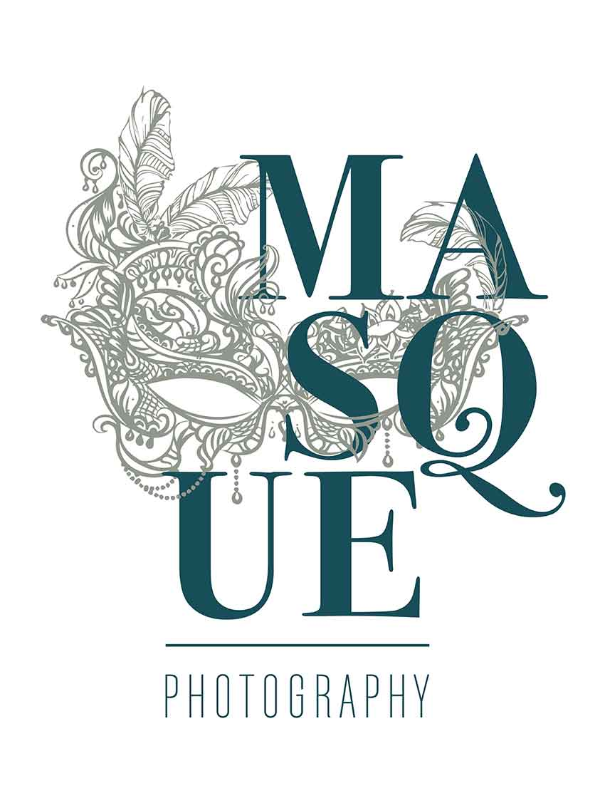 Masque Photography Branding Business Logo on White