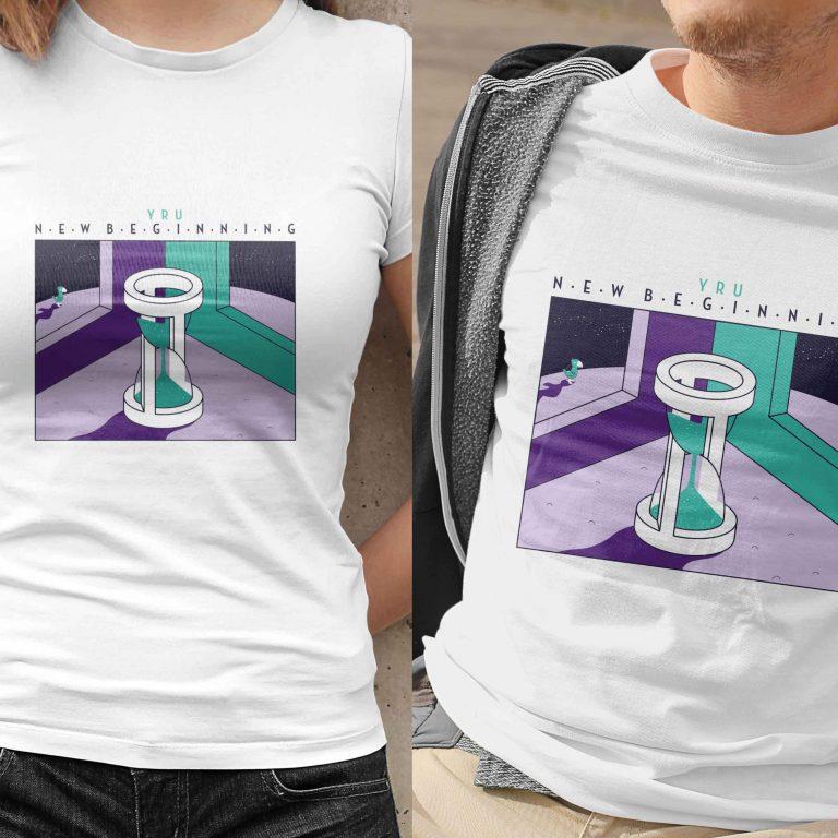 YRU New Beginning Album Artwork Band T-Shirts