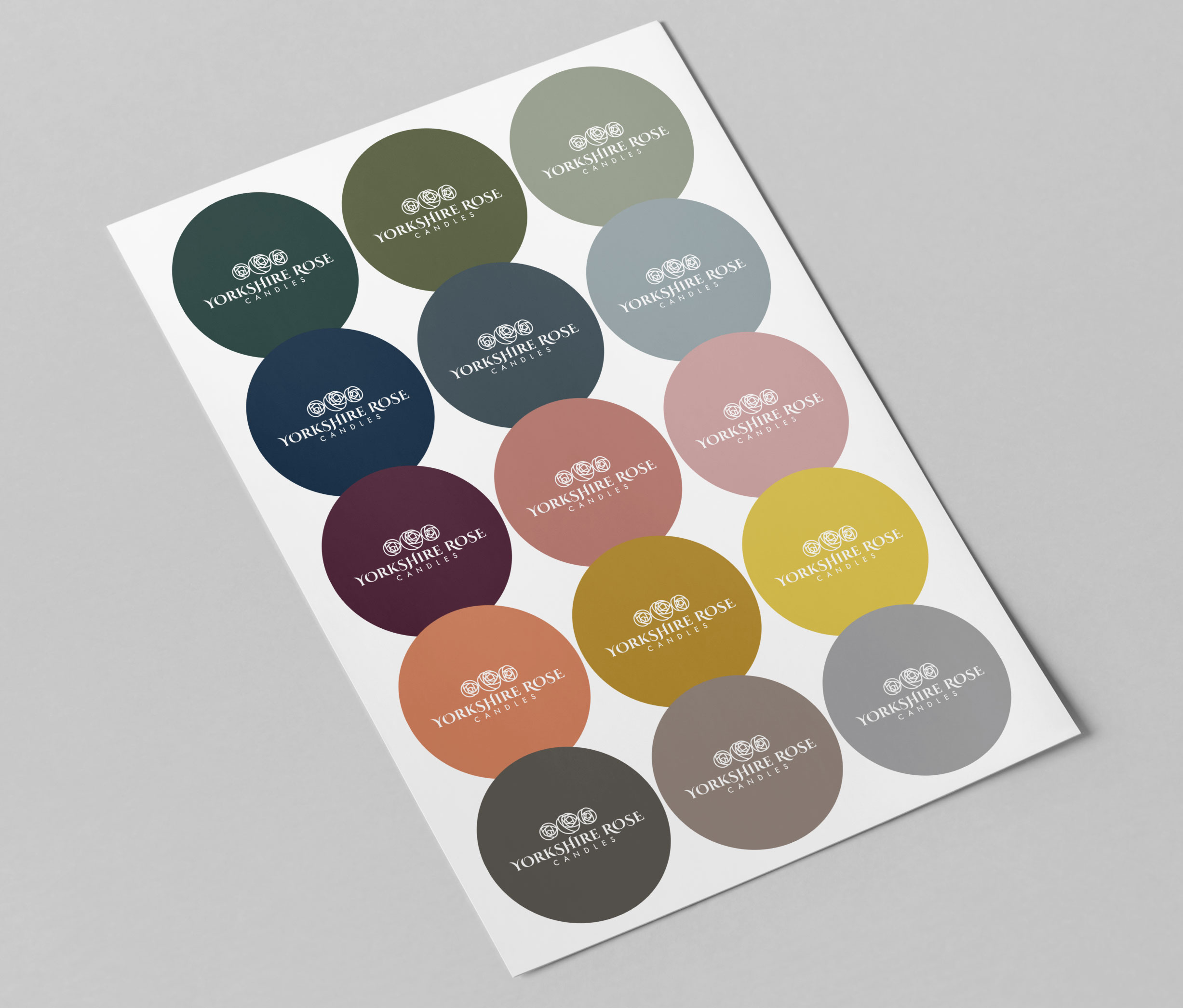 Yorkshire Rose Candles Colour Palette